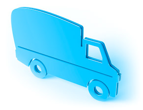 Contract delivery truck icon